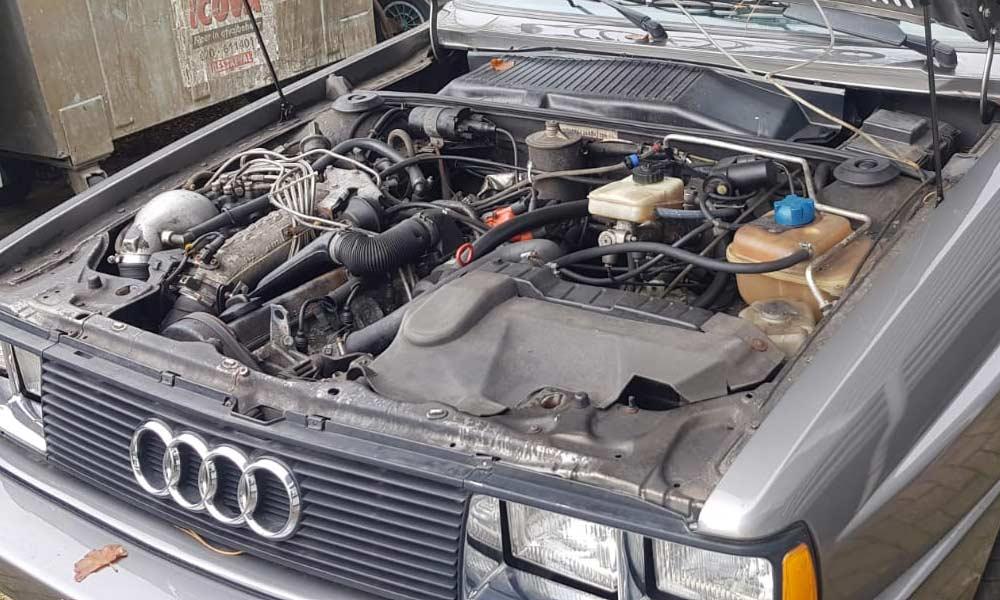 Mototorruimte restauratie Audi Coupe Quattro