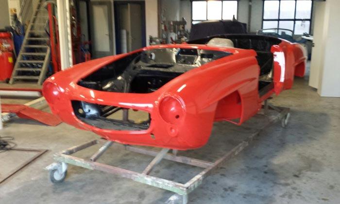 Restauratie mercedes 190SL