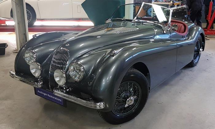 Totaal restauratie Jaguar XTotaal restauratie Jaguar XK120K120